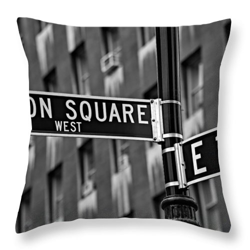 Union Square Throw Pillow featuring the photograph Union Square West by Susan Candelario