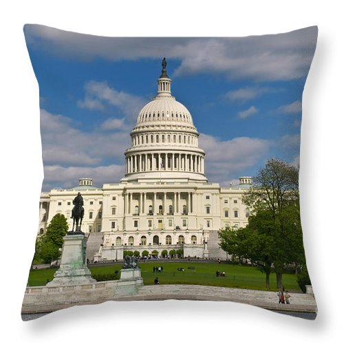 Capitol Throw Pillow featuring the photograph United States Capitol by Jim Moore