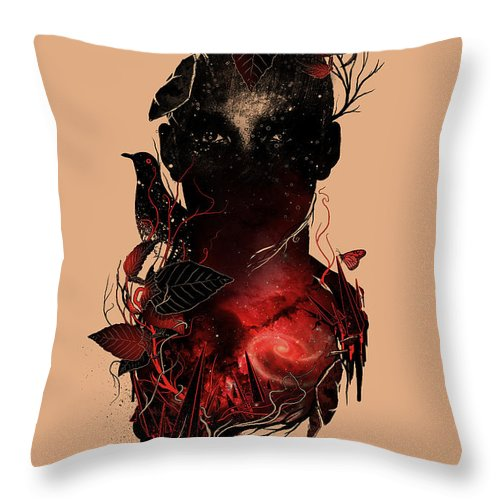 Universe Throw Pillow featuring the mixed media Universe Inside by Nicebleed