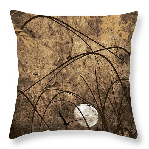 Abstract Throw Pillow featuring the photograph Unseen by Lourry Legarde