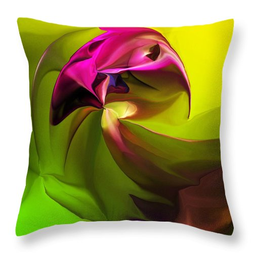 Fine Art Throw Pillow featuring the digital art Untitled 040612 by David Lane