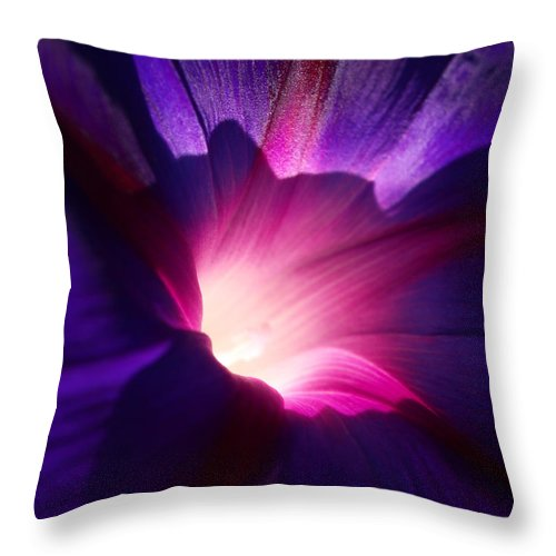 Purple Throw Pillow featuring the photograph Up Close And Purple by Teri Schuster