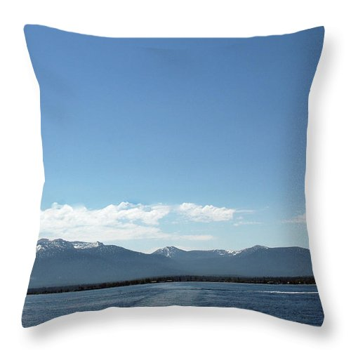 Usa Throw Pillow featuring the photograph Up Up And Away Lake Tahoe by LeeAnn McLaneGoetz McLaneGoetzStudioLLCcom