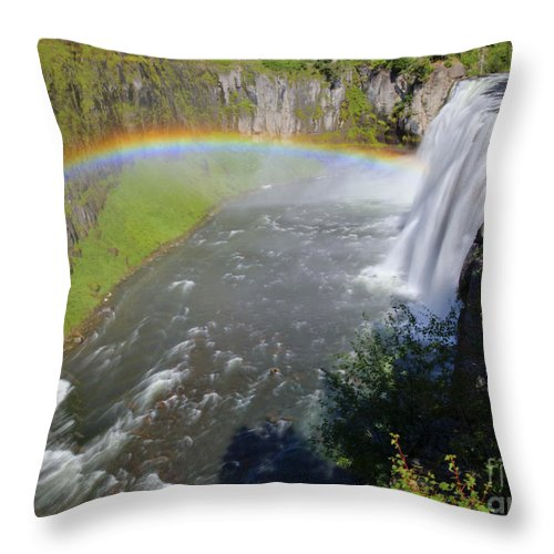 Eastern Idaho Throw Pillow featuring the photograph Upper Mesa Rainbow by Idaho Scenic Images Linda Lantzy