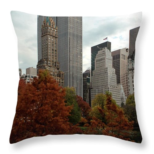 New York City Throw Pillow featuring the photograph Urban Sprouting From Rural by Lorraine Devon Wilke