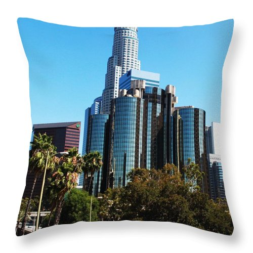 Downtown Throw Pillow featuring the photograph Urbanism by Caroline Lomeli