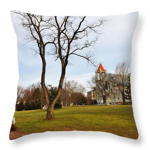 Ursinus College Throw Pillow featuring the photograph Ursinus College by Bill Cannon