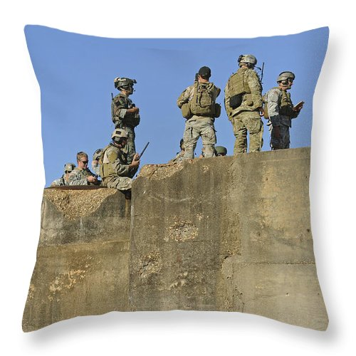 Military Throw Pillow featuring the photograph U.s. Special Operations Soldiers by Stocktrek Images