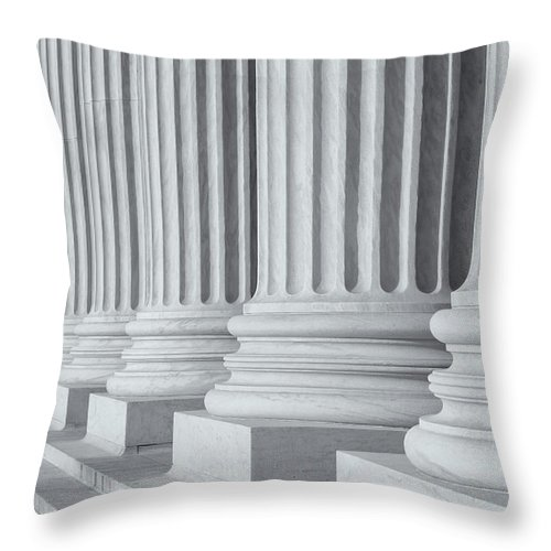 Clarence Holmes Throw Pillow featuring the photograph Us Supreme Court Building IIi by Clarence Holmes