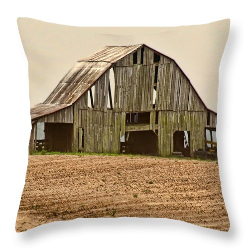 Arcitecture Throw Pillow featuring the photograph Vanishing American Icon by Debbie Portwood