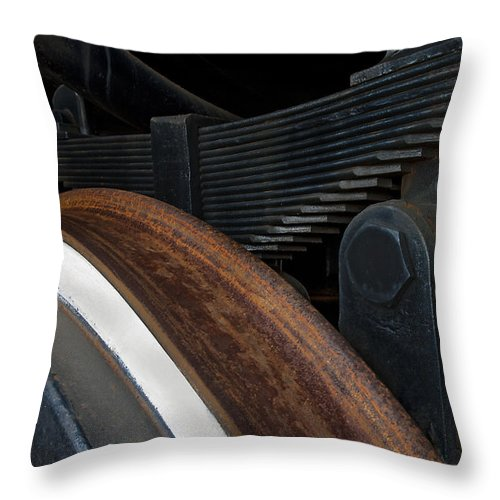 Railroad Throw Pillow featuring the photograph Vectors by Murray Bloom