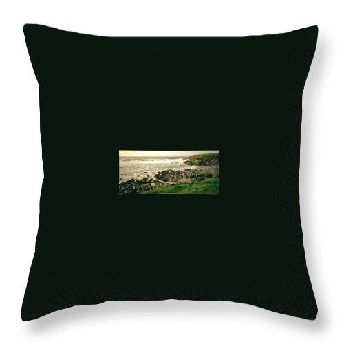 Velencia Throw Pillow featuring the photograph Velencia Island Shore by Douglas Barnett