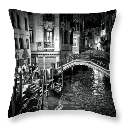 Venice Throw Pillow featuring the photograph Venice Evening by Madeline Ellis