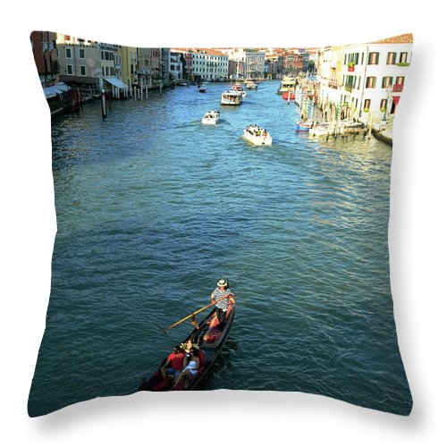 Italy Throw Pillow featuring the photograph Venice View by La Dolce Vita