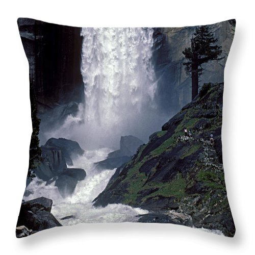 Water Throw Pillow featuring the photograph Vernal Falls Spring Flow by Paul W Faust - Impressions of Light