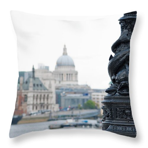 British Throw Pillow featuring the photograph Victorian Lampposts by Andrew Michael