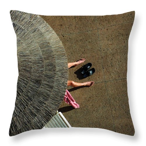 Hawaii Throw Pillow featuring the photograph View From Above by Bob Christopher