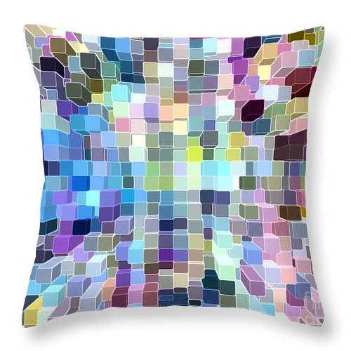 Ebsq Throw Pillow featuring the digital art View From Above by Dee Flouton