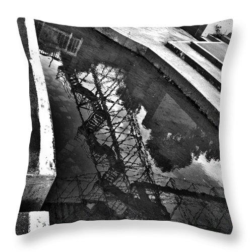 Rochester Throw Pillow featuring the photograph Viewing Platform Reflection by Kristen Cavanaugh