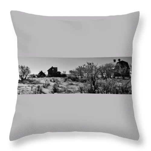 Black And White Photography Throw Pillow featuring the photograph Village View by The Artist Project