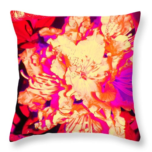 Flower Throw Pillow featuring the photograph Vintage Blossom by Susan Carella