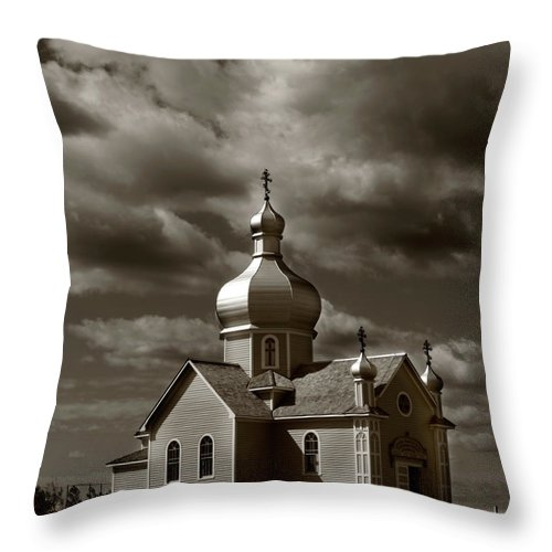 Rural Throw Pillow featuring the photograph Vintage Church by The Artist Project