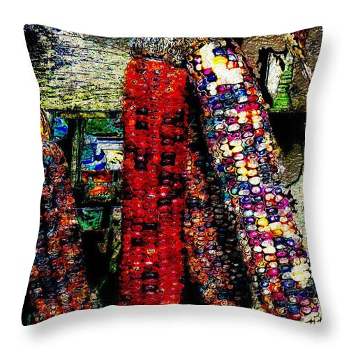 Ebsq Throw Pillow featuring the photograph Vintage Corn by Dee Flouton