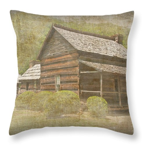 Photograph Throw Pillow featuring the photograph Vintage Davis House by Bob and Nancy Kendrick