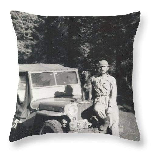 Digitized Throw Pillow featuring the photograph Vintage Jeep by Alan Espasandin