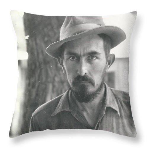 Digitized Throw Pillow featuring the photograph Vintage Portrait by Alan Espasandin