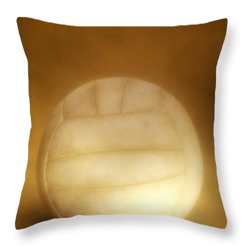 Compete Throw Pillow featuring the photograph Vintage Soccer Ball by John Greim
