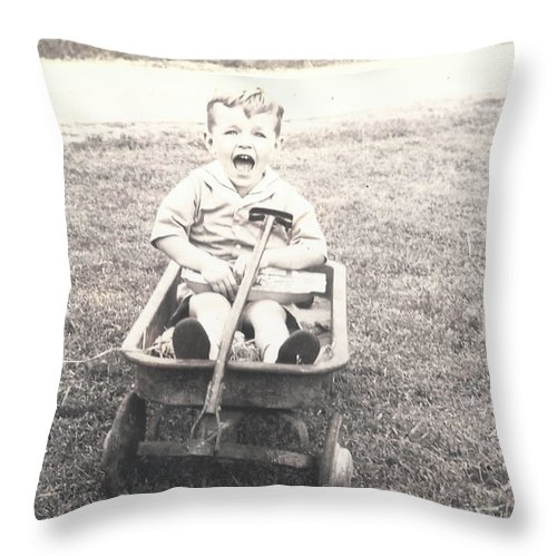 Digitized Throw Pillow featuring the photograph Vintage Wagon by Alan Espasandin
