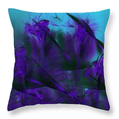 Fine Art Throw Pillow featuring the digital art Violet Growth by David Lane