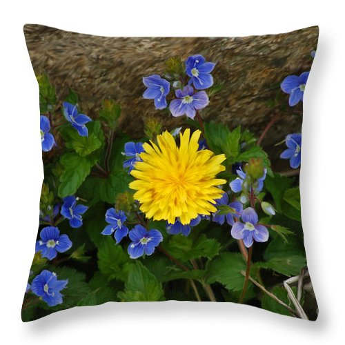 Diane Berry Throw Pillow featuring the painting Violets by Diane E Berry