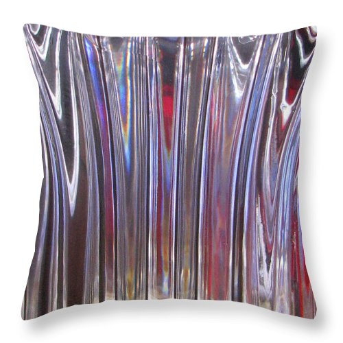 Crystal Throw Pillow featuring the photograph Visible by Tina Marie