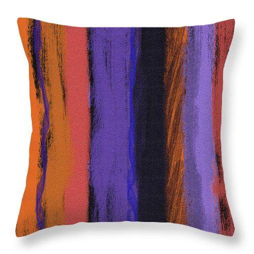 Line Throw Pillow featuring the painting Visual Cadence Vii by Julie Niemela