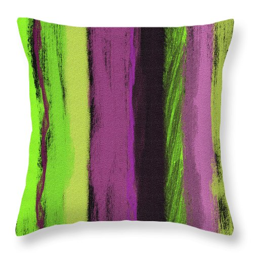 Line Throw Pillow featuring the painting Visual Cadence Viii by Julie Niemela