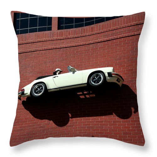 Brick Throw Pillow featuring the photograph Vroom by Ric Bascobert