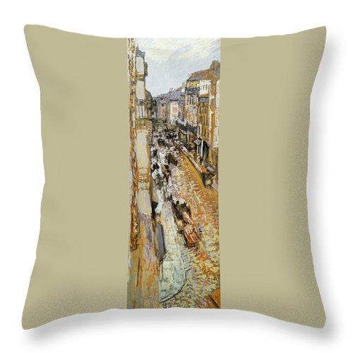 1908 Throw Pillow featuring the photograph Vuillard: Paris, 1908 by Granger