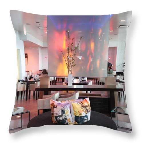 W Throw Pillow featuring the photograph W by Caroline Lomeli