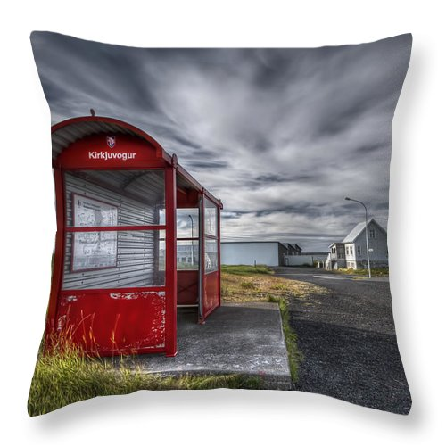 Wait Throw Pillow featuring the photograph Waiting For The Day by Evelina Kremsdorf