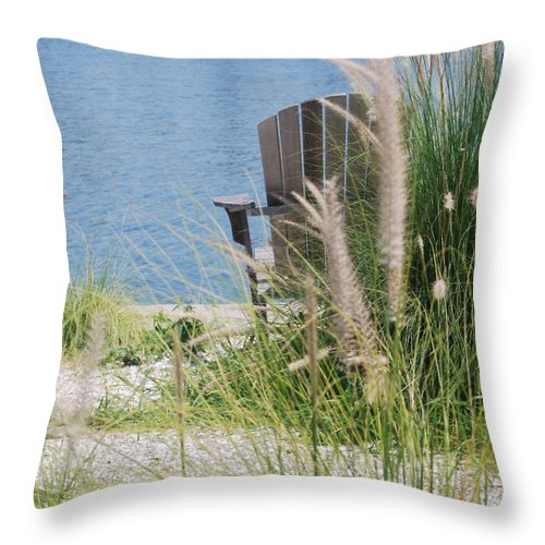 Water Throw Pillow featuring the photograph Waiting For You by Michael L Gentile