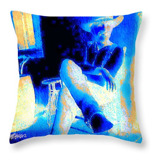Waiting Up Throw Pillow featuring the photograph Waiting Up by Seth Weaver