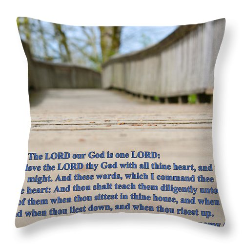 Verse Throw Pillow featuring the photograph Walkest By The Way by Tikvah's Hope