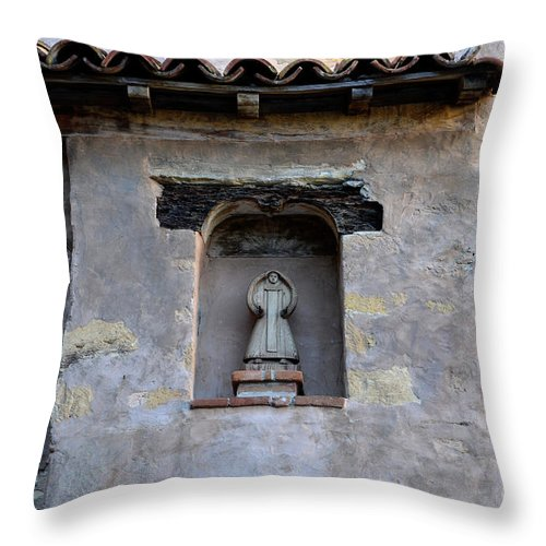 Coast Throw Pillow featuring the photograph Wall Detail At Carmel by Bob Christopher
