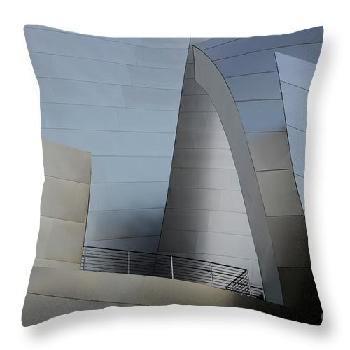 Disney Throw Pillow featuring the photograph Walt Disney Concert Hall 2 by Bob Christopher