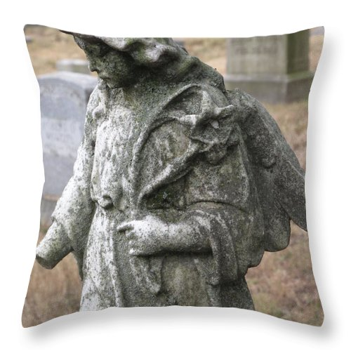 Statue Throw Pillow featuring the photograph Wandering by Michele Nelson