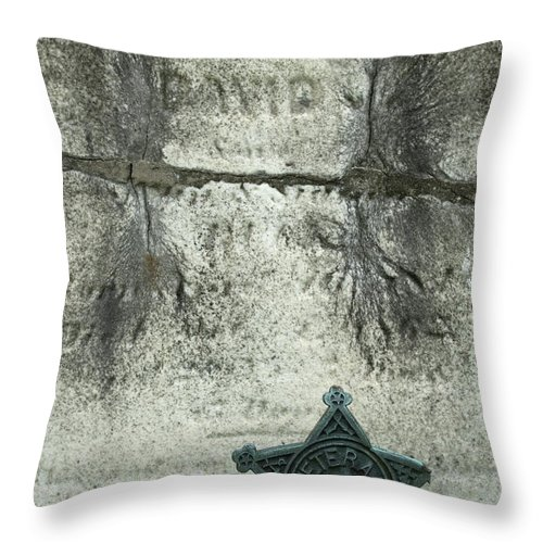 Cemetery Throw Pillow featuring the photograph War Of 1812 Veteran by Paul W Faust - Impressions of Light
