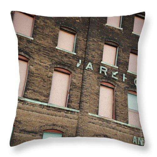 Urban Throw Pillow featuring the Warehouse by Chris Berry