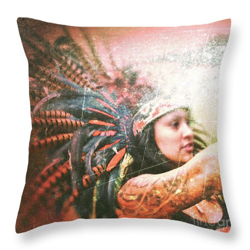 Warrior Throw Pillow featuring the photograph Warrior Dance by Kevyn Bashore